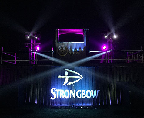 Custom structure for Strongbow, Isle of Wight Festival