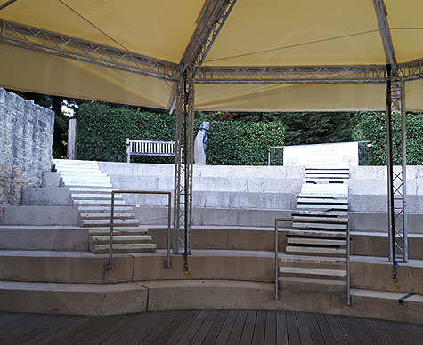 Truss-based 10m Bandstand stage roof.