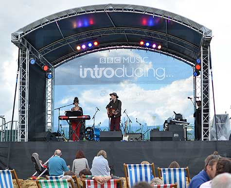 BBC Introducing stage at Courtyfile Live.