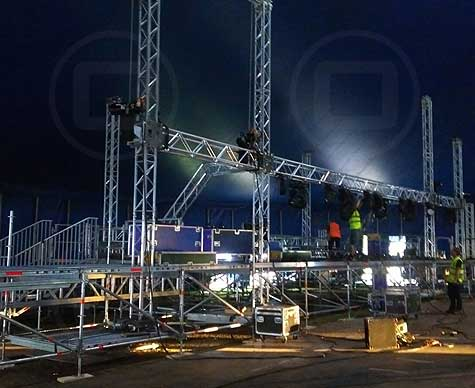 Staging & event structures by OTP, Wallingford, Oxfordshire