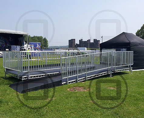 Customised viewing platform for Blue Peter Big Olympic Tour.