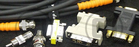 BNC, VGA, HDMI and CAT5 Video cable available for dry hire